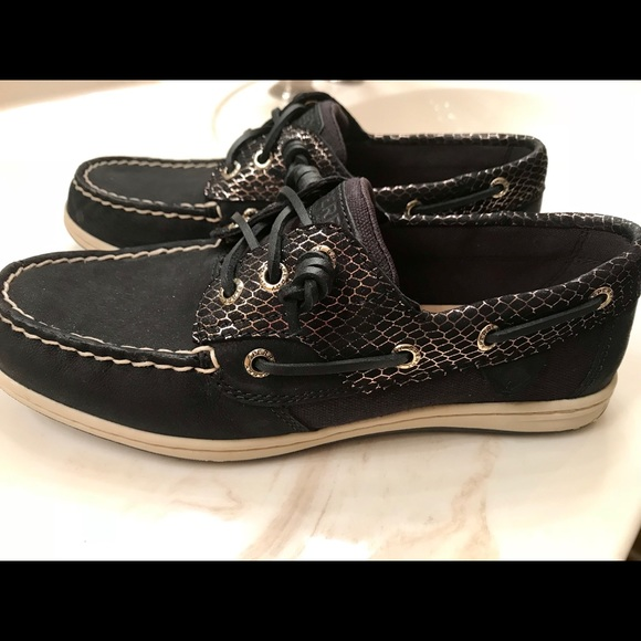 Womens Sperry Topsiderssongfish Snake